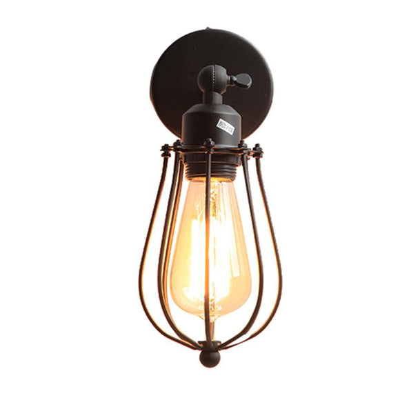 Retro industrial wall lamp Iron explosion E27 90v-260v wall light living room bathroom indoor lightiing luminaire abajur sconce