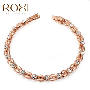 ROXI bracelets & bangle for Women Genuine Austrian Crystals Elegant Bracelets Rose Gold Color Hand Made Fashion Jewelry