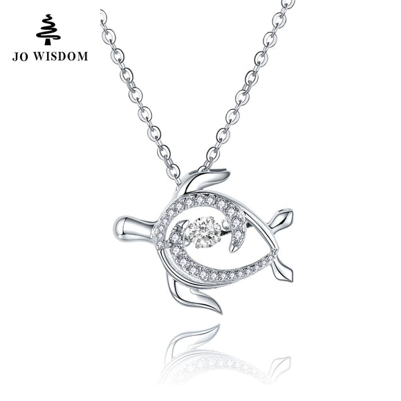 Personalized 925 Sterling Silver Women Necklace Pendants for Women Dancing Natural Stone Best Friend Gift