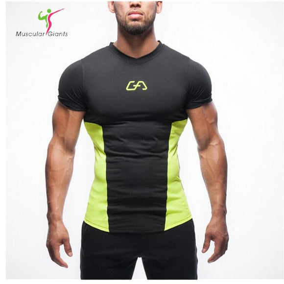 2017 Summer short-sleeve t-shirt men gyms sporting fashion tshirt homme t shirt men fitness crossfit camisetas t-shirt men