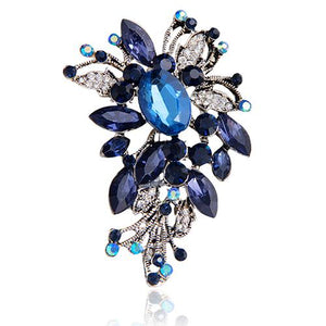 Bluelans Women's Flower Shape Alloy Glass Clothes Sweater Scarf Brooch Pin Jewelry Gift