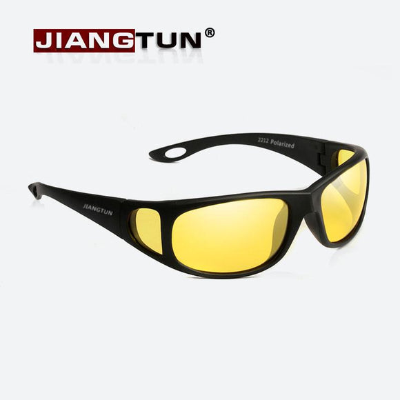 JIANGTUN HD Night Vision Glasses Goggles Polarized Sunglasses 2017 New Brand Designer Yellow Night Driving