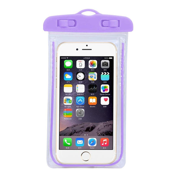 Universal Swim photography Waterproof Bag Travel Underwater cover case for 5.5 inch Cell Phone For iphone 7 6splus ping