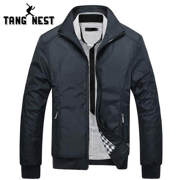 TANGNEST Men's Jackets 2017 Men's New Casual Jacket High Quality Spring Regular Slim Jacket Coat For Male MWJ682