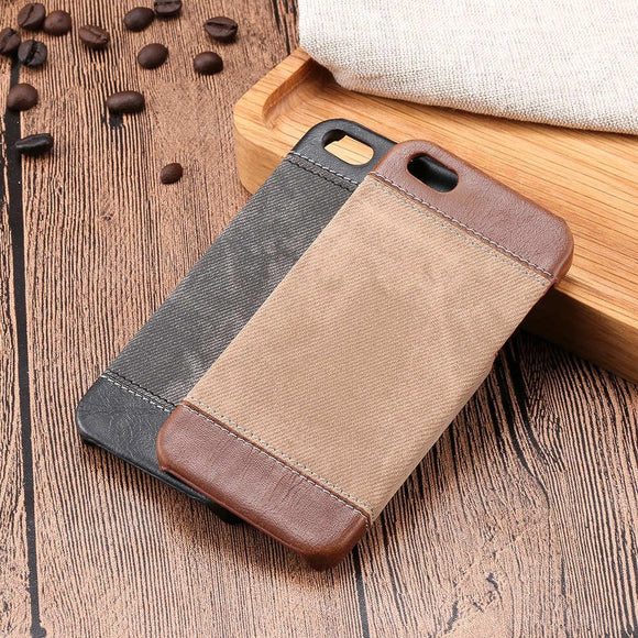 Fashion Jean Hard PC Case for iphone 7 6 6s Plus SE 5 5s Galaxy S7 S6 edge Plus Note 5 4 3 Cover Retro Denim Cowboy Canvas Shell
