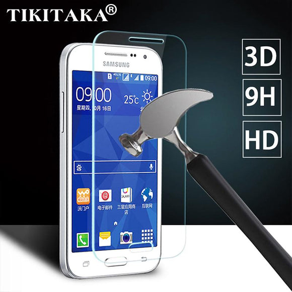 2.5D 9H 0.3mm Ultra Thin Real Premium Tempered Glass Film For Samsung Galaxy Screen Protector Multi-Phone glasses + Cleaning Kit