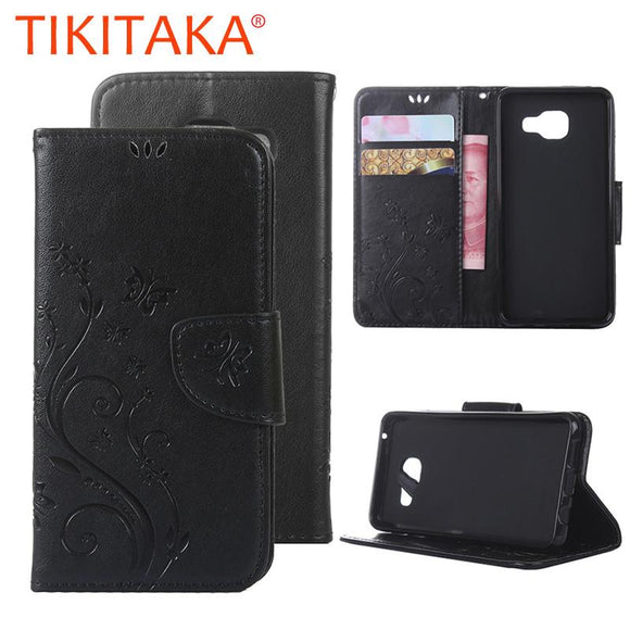 A3 A5 Retro Flower Embossed Leather Flip For Samsung Galaxy A310 A510 J3 J310 2016 Cover Stand Wallet Case With Card Slot Holder