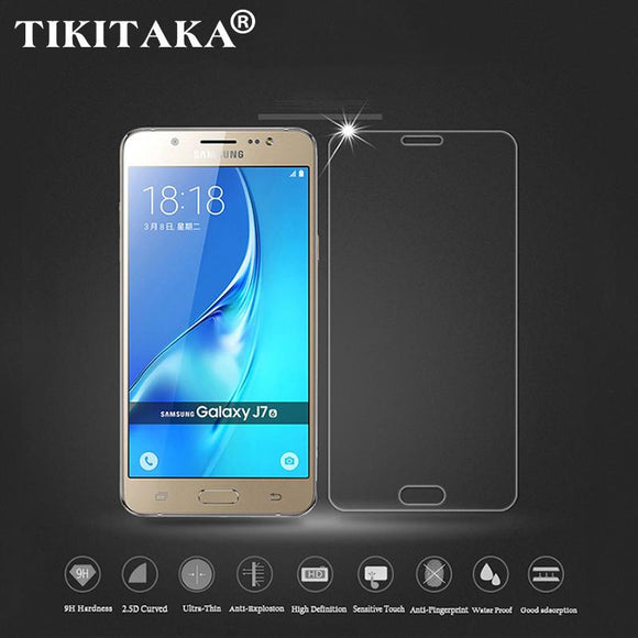 HD Clear Tempered Glass For Samsung Galaxy J1 J3 J5 J7 J120F J310 J510 J710 2016 9H Anti-Explosion Screen Protector + Clean Tool