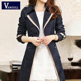 2017 new hot spring autumn overcoats women's trench coats long sleeve fashion turn-down collar overwear clothing S-XXXL