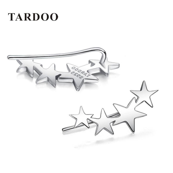 Tardoo High Quality 925 Sterling Silver Hook Earrings for Women Four Stars Modeling Charming Stud Earrings Brand Fine Jewelry