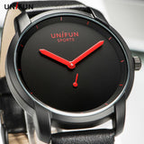 UNIFUN New Men Women Lover's Ultra Thin Fashion Casual Business Simple Style Analog Quartz Sports Watches Male Relogio Masculino