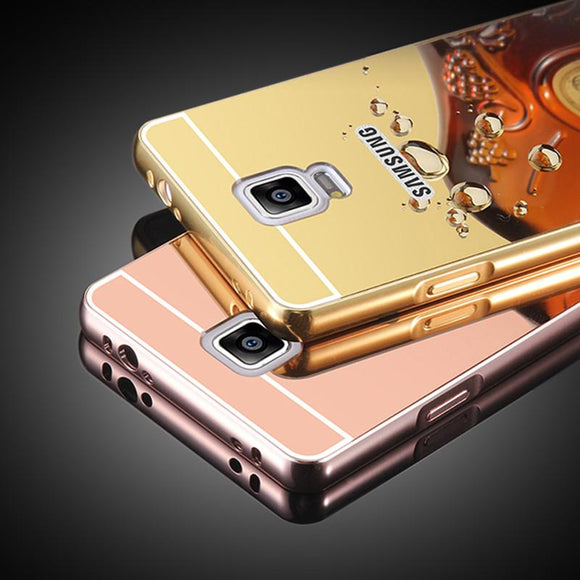 Luxury Ultra thin Plating Mirror Case For amsung Galaxy S3 S5 S6 Edge S7 Edge Note 4 3 A7 A8 2014 J5 J7 2015 A5 A7 2016 Cover PC