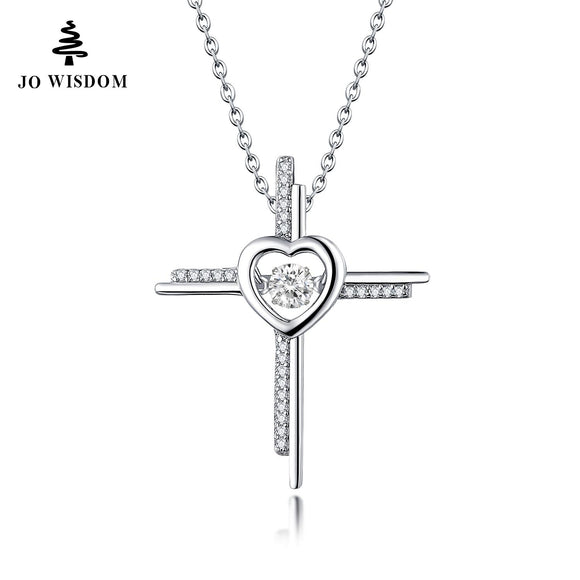 Natural Stone Topaz Cross Necklaces&Pendants 925 Sterling Silver Jewelry Collane Con Pendenti Wholesale Price