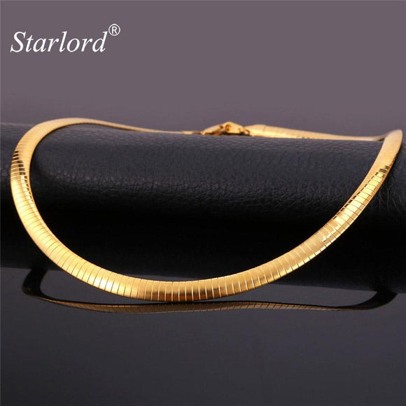 Starlord Choker Necklace Men Jewelry Gold Color 48CM Chains Vintage Fashion Jewelry Men Necklace Stainless Steel GN212