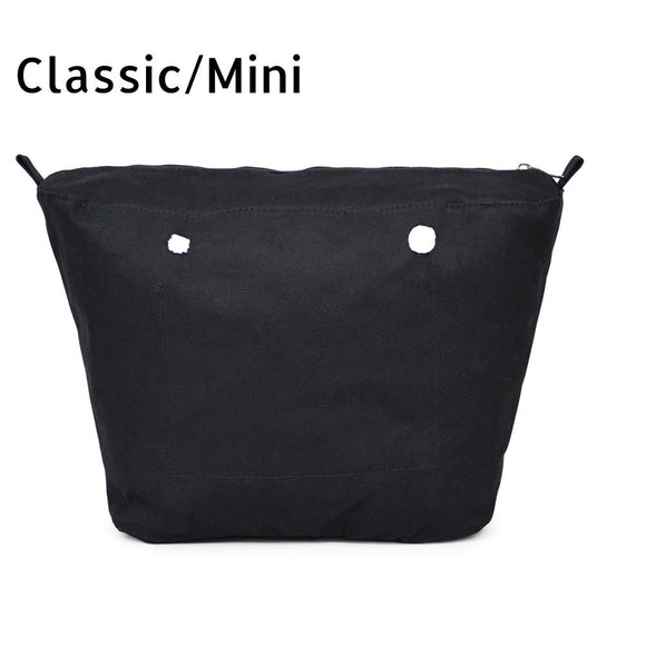 New Inner lining Insert Zipper Pocket For Classic Mini Obag Canvas insert with inner waterproof coating for O bag