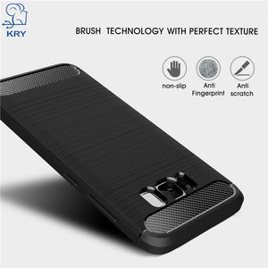 KRY Shockproof Phone Cases For Samsung Galaxy S6 S6 Edge Case S7 S7 Edge Carbon Fiber Cover for S8 Case Plus TPU Capa Coque