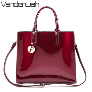 VANDERWAH Brand Glossy Big Tote women bags High Quality Women's PU Leather Handbags Letter Shoulder Crossbody Bag Messenger Bags