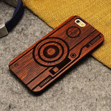 Natural U&I Brand New Wood Phone Case For iPhone 5 5S 6 6S 6Plus 7 7Plus Cover Wooden High Quality Shockproof Protector Coque
