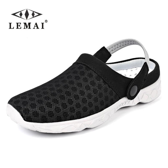 LEMAI New Arrived Mens Summer Shoes, Sandals Breathable, Men Slippers Mesh Lighted Casual ShoesBeach Flip Flops size:36-45
