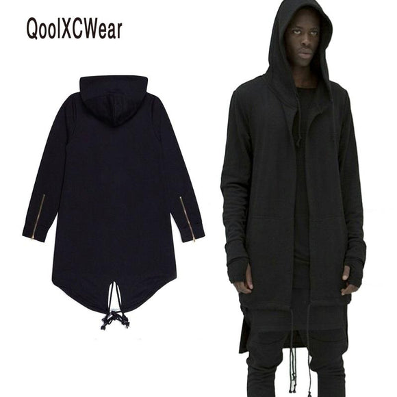 QoolXCWear Hoodies Men/women Hooded Cloak Plus Long Shawl Double Coat-Coat Assassins Creed Jacket Streetwear Oversize