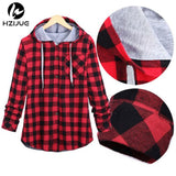 HZIJUE New Kanye West Hip hop Plaid Shirt Men High Street Fashion Swag Clothing Loose Hipster Longline HOOD Chemise S-XXL