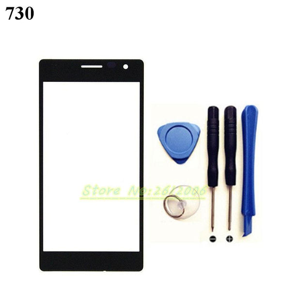 4.7'' For Nokia Lumia 730 735 Replacement LCD Front Touch Screen Outer Glass Lens + Tools Set +