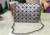 Women Plaid Laser Bag Geometric Chain Shoulder Bags Mini Casual Clutch Bao Bao Crossbody Bags Women Messenger Bag Bolsa BAOBAO