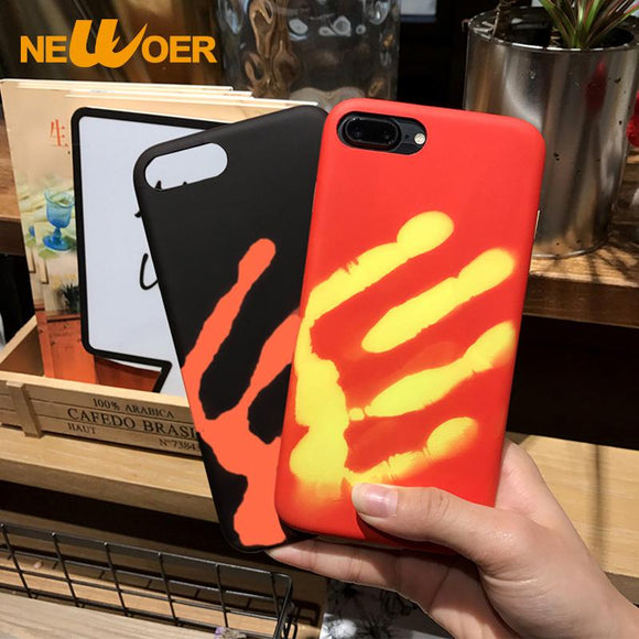 Antiknock Phone Case For iPhone 7 Soft TPU Aurora Gradient Color Case Thermal Sensor Discoloration Cover i7 7g 7S  Newoer