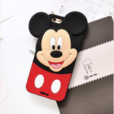 Cute 3D Cartoon Minnie Mickey Mouse Soft Silicone Case For Apple iPhone 6 6s 6S Plus 7 8 Plus 5s 4s X Back Cover
