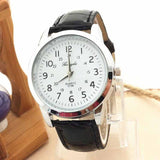 GERRYDA Quartz-Watch Women Casual Sport Wristwatch Women's Clocks Relogio Feminino Men Leather Strap Roman Numerals Dial Watch
