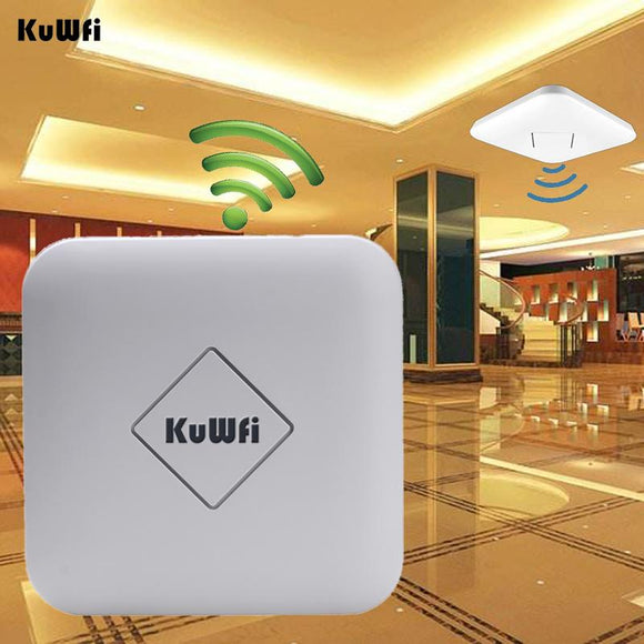 Kuwfi 802.11AC 1200Mbps High Power Ceiling Wireless AP 128M 2.4G/5G Dual Band Wireless Router Gateway Wifi Repeater AC control