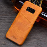 KEYSION Case For Samsung Galaxy S8 S8 Plus Leather Luxury Wallet Card Slots Soft Back Capa for G950 G955F Business Cover Fundas