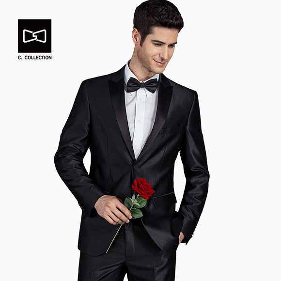 2017 Men Groom Wedding Suit Slim fit formal men suit Latest Coat Pant Designs Fashion Dress Luxury Tuxedo Men Blazers 2 Pieces