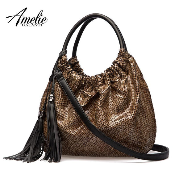 AMELIE GALANTI Handbag womans Special bright crystal snake-like fabric Classic style Magical feeling Fashion beautiful