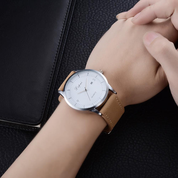 LVPAI Women's Simple Watches Big Dial Dress Women Bracelet Montre Femme Fuax Leather Belt Quartz Watch Nice Woman Watches