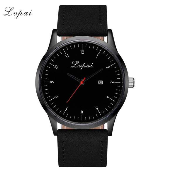 LVPAI Women's Simple Watches Women Fashion Watch 2017 Top Brand Luxury PU Leather Ladies Watch Nice Big Dial Relogio Feminino