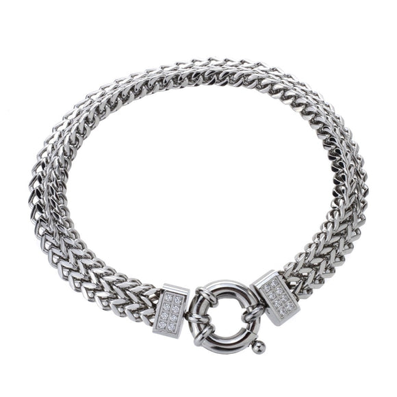 Mens stainless steel link chain bracelet gold silver color biker jewelry birthday gifts for dad him boyfriend D009 ping