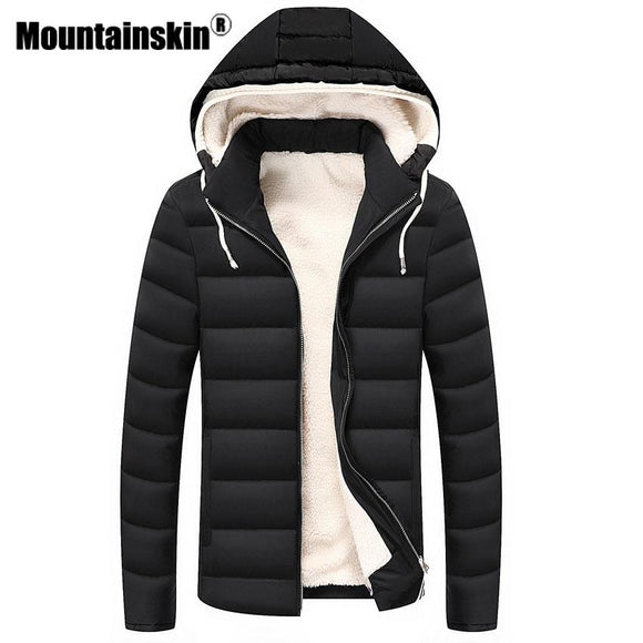 Moutainskin Winter Parkas Men's Jackets 4XL Thick Hooded Coats Men Outerwear 2017 Warm Fleece Jacket Male Brand Clothing SA357