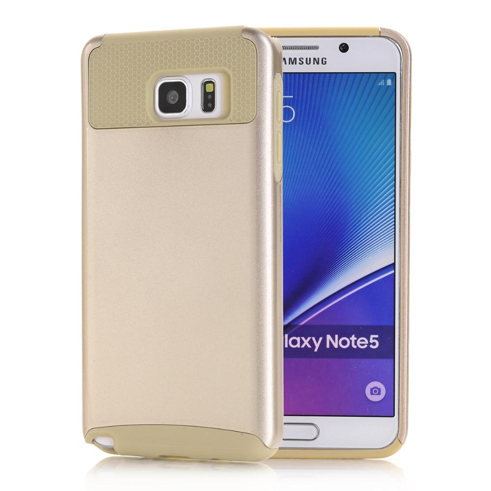 Phone Cases for Samsung Galaxy Note 5 N9200 Back Cover Rugged Rubber Silicone+Hard PC
