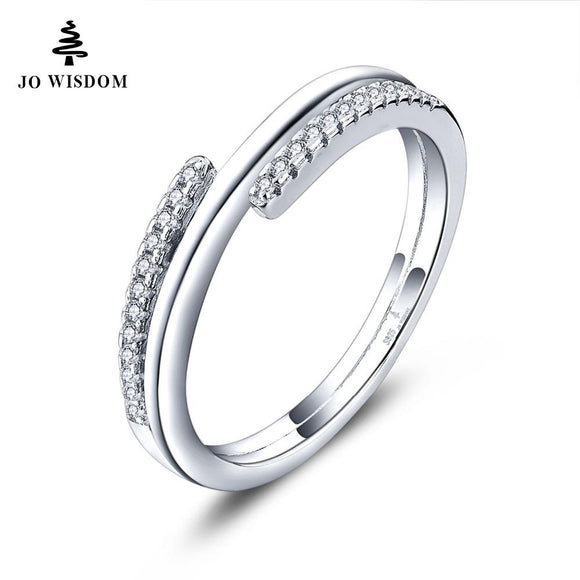 Trendy 100% 925 Sterling Silver Women Wedding Ring Engagement Ring for Women