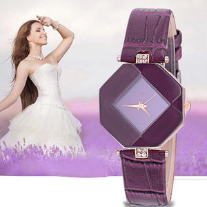 2017 New Brand Rhinestone Bracelet Gift Purple Dress Ladies Watches Women Fashion Watch 2017 Luxury Clock Relogio Feminino