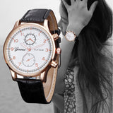 Hot Design Hour Watches Women Clock Discount Top Brand Luxury PU Leather Watches Women Fashion Watch 2017 Relogio Feminino