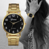 Gold Women Watches Stainless Steel Quartz Watch Female Discount Metal Watch Bracelets Relogio Feminino
