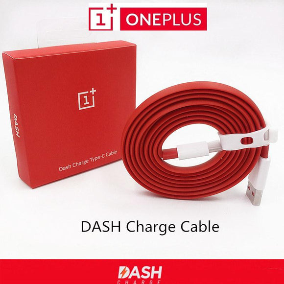 Original ONEPLUS 5 3 3T Dash Charge Cable 100cm/150cm Red Noodles Fast Charger Cable For One plus Three Five Mobile Phones