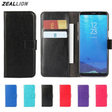 ZEALLION For Samsung Galaxy S8 S7 S6 S5 S4 S3 Edge Plus J1 J3 J5 J7 A3 A5 2016 2017 EU US Note 8 Case Holster Flip Leather Cover