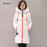 2017 Winter jacket women Thick Long Women Parkas Hooded Female Outwear Coat Down Cotton Padded Snow Wear
