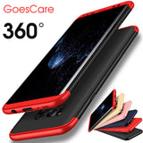GoesCare 360 Full Body Protection 3 in 1 Plastic Matte Hard PC Case For Samsung Galaxy S8 S8 Plus Anti Fingerprint Cover Case