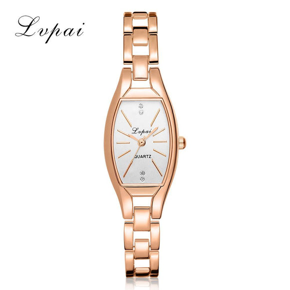 LVPAI Rectangle Metal Watch Bracelets Watches Women Fashion Watch 2017 Gift Stainless Steel Analog Quartz Watch Ladies Relogio