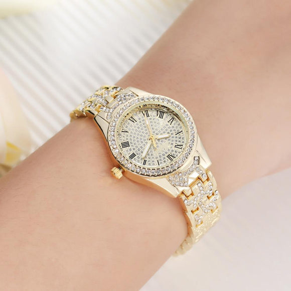 LVPAI Top Brand Luxury Crystal Unisex Watches Women Fashion Watch 2017 Gift Rhinestone Diamond Stainless Steel Wristwatch Mens