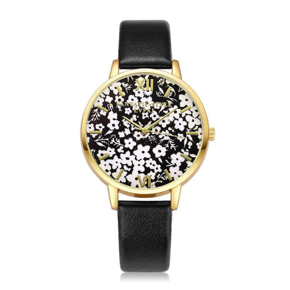 LVPAI Snow Women Watches Famous PU Leather Ladies Watch 9 Colors Analog Quartz Watch for Women's Gift Reloj Mujer